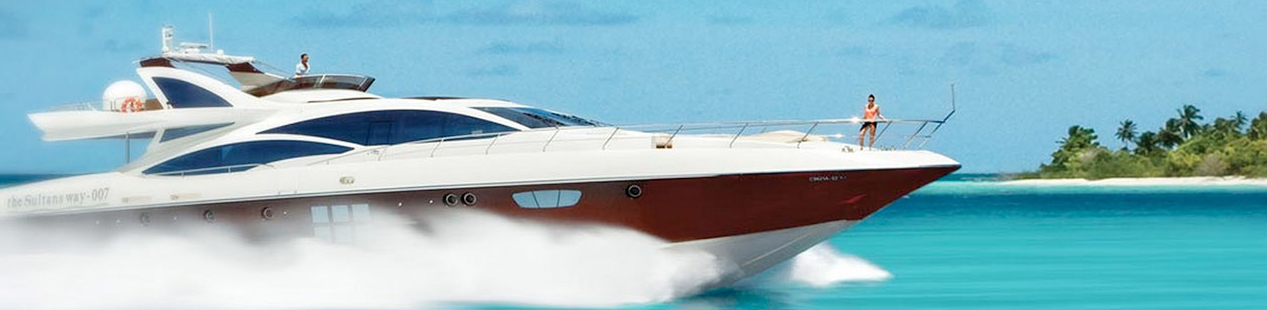 Maledivy speed boat